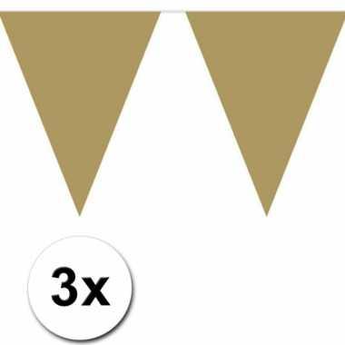 Gouden vlaggenlijnen 3 x