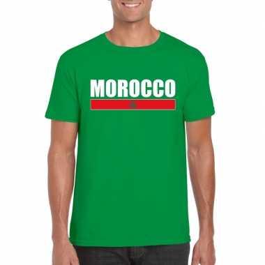 Groen marokko supporter t-shirt voor heren