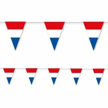 Holland rood wit blauw vlaggenlijn papier 3,5 meter