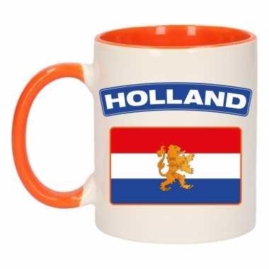 Holland vlag mok beker oranje wit 300 ml