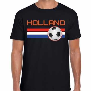 Holland voetbal / landen t-shirt zwart heren