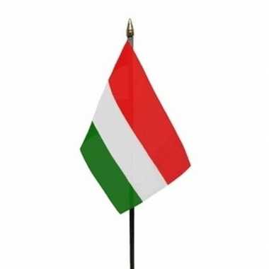 Hongarije luxe zwaaivlaggetje polyester