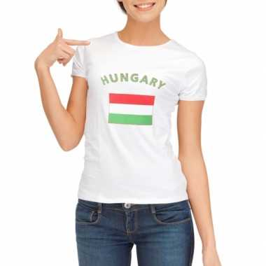Hongarije vlaggen t-shirt voor dames