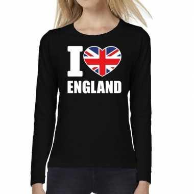 I love england long sleeve t-shirt zwart voor dames