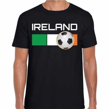 Ireland / ierland voetbal / landen t-shirt zwart heren