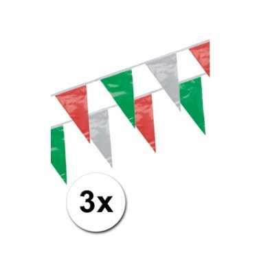 Italiaanse vlaggenlijnen 4 meter 3 stuks