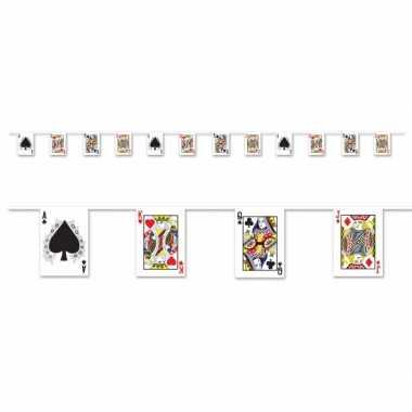 Kaarten slinger met casino thema
