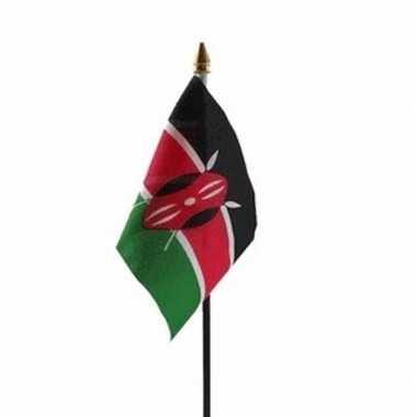 Kenia luxe zwaaivlaggetje polyester