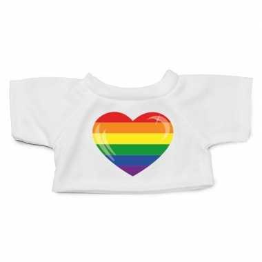 Knuffel kleding gaypride hart shirt m voor clothies knuffel