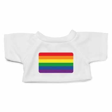 Knuffel kleding gaypride vlag shirt xl voor clothies knuffel