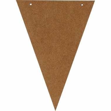 Knutsel vlaggetje van hout 19 cm