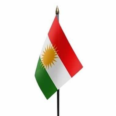 Koerdistan luxe zwaaivlaggetje polyester