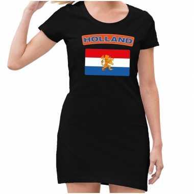 Koningsdag jurkjes zwart met holland vlag