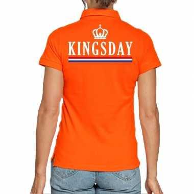 Koningsdag poloshirt kingsday oranje voor dames