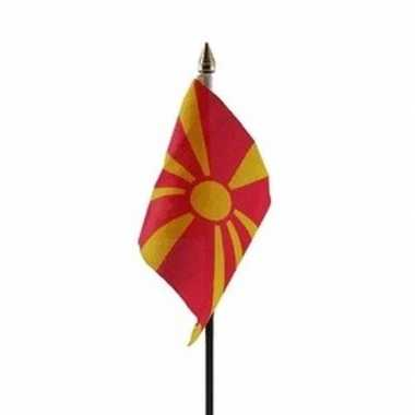Macedonie luxe zwaaivlaggetje polyester