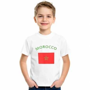 Marokkaans vlaggen t-shirt voor kinderen