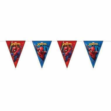 Marvel spiderman feestartikelen vlaggenlijn 230 cm plastic