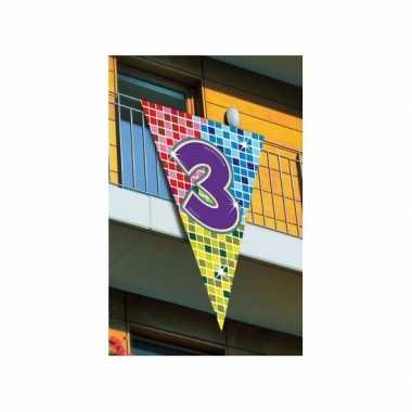 Mega vlag verjaardag 3 jaar