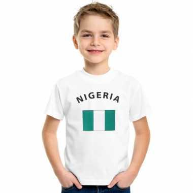 Nigeriaans vlaggen t-shirt voor kinderen