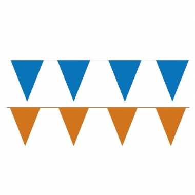 Orange and blue thema party vlaggetjes