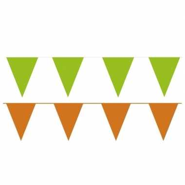 Orange and green thema party vlaggetjes
