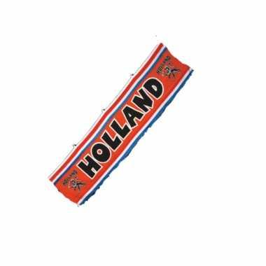 Oranje holland thema spandoek straatvlag van 70 x 300 cm