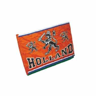 Oranje holland thema vlag van 70 x 100 cm
