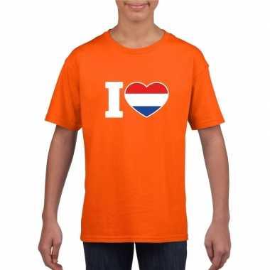 Oranje i love holland shirt kinderen