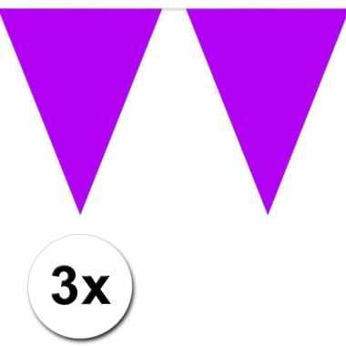 Paarse vlaggenlijnen 3 x