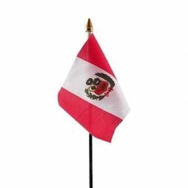 Peru luxe zwaaivlaggetje polyester