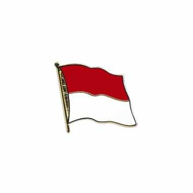 Pin speld vlag indonesie 20 mm