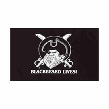 Piraten vlag zwartbaard