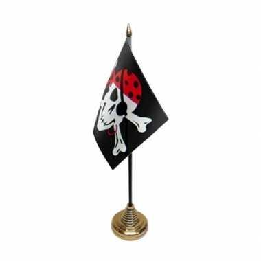 Piratenvlaggen voor op tafel one eyed jack
