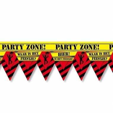 Plastic markeerlint vlaggetjes waar is dat feestje 12 meter feestarti