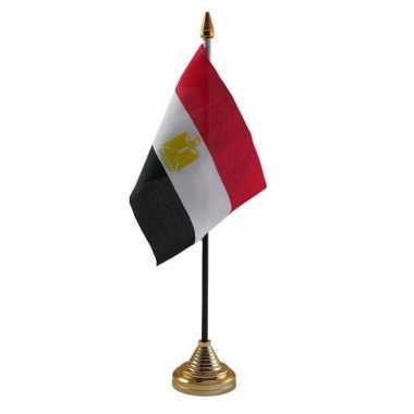 Polyester egyptische vlag voor op bureau 10 x 15 cm