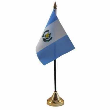 Polyester guatemalaanse vlag voor op bureau 10 x 15 cm