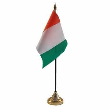 Polyester ivoriaanse vlag voor op bureau 10 x 15 cm