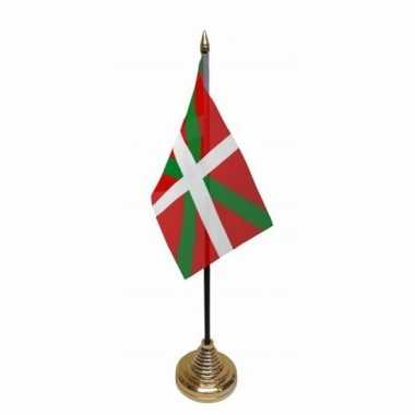 Polyester spaanse baskenland vlag voor op bureau 10 x 15 cm