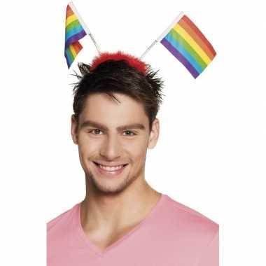 Regenboog vlaggen diadeem