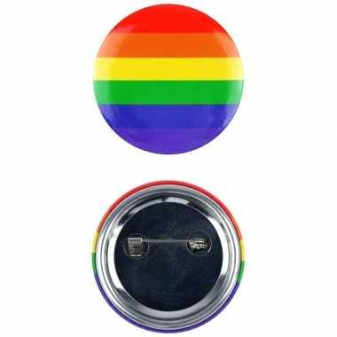 Regenboogvlag kleuren tas broche 2 cm