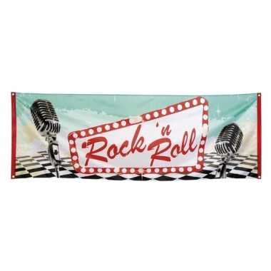 Rock en roll thema banner 74x220 cm