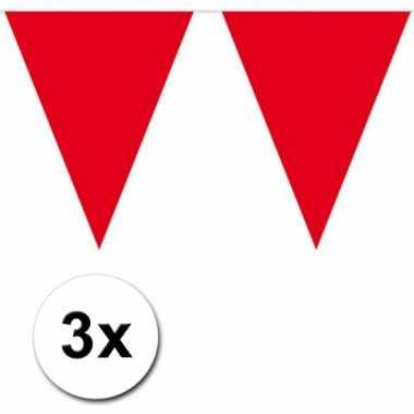 Rode vlaggenlijnen 3 x