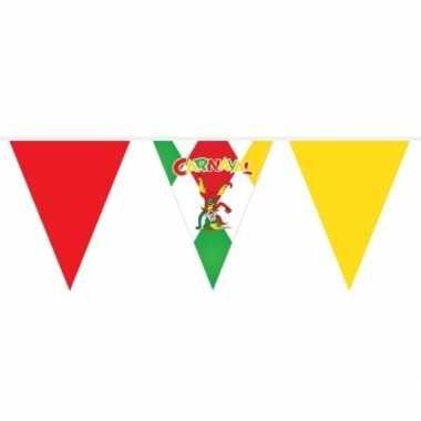 Rood/groen/gele vlaggenlijn carnaval 10 m