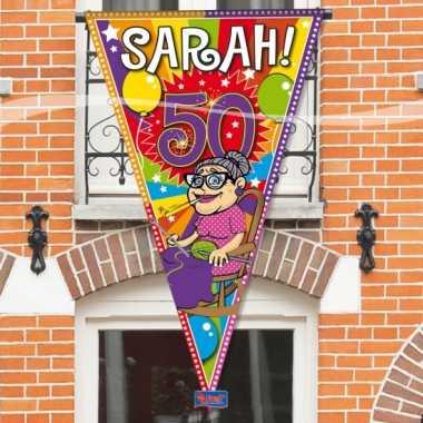 Sarah 50 jaar gevelvlag 90 x 150 cm