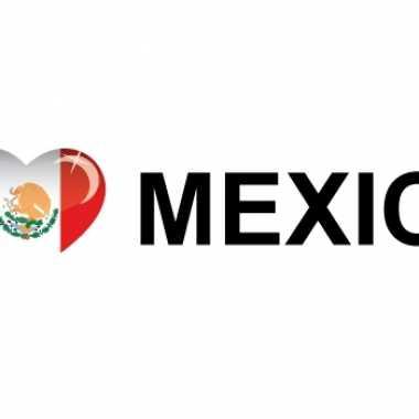 Set van 10x stuks koffer stickers i love mexico