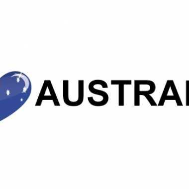 Set van 5x stuks koffer stickers i love australia