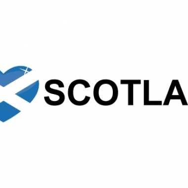 Set van 5x stuks koffer stickers i love scotland