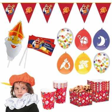 Sinterklaas thuis intocht feest/versiering pakket xl voor 4 kinderen