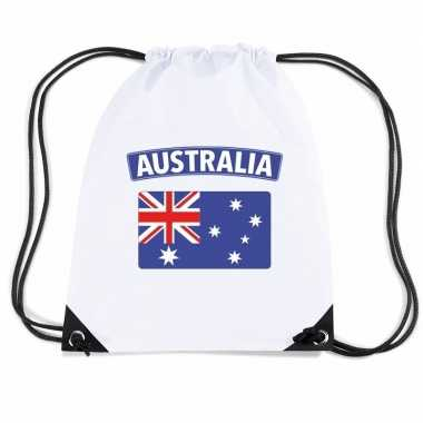 Sporttas met rijgkoord vlag australie