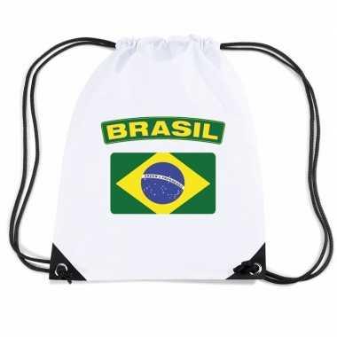 Sporttas met rijgkoord vlag brazilie